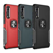 Shockproof Armor Case For Huawei P20 Pro Lite Mate 20 Finger Ring Holder Stand Bracket Back Cover Huawei P20Pro Case Mate20 P 20(China)