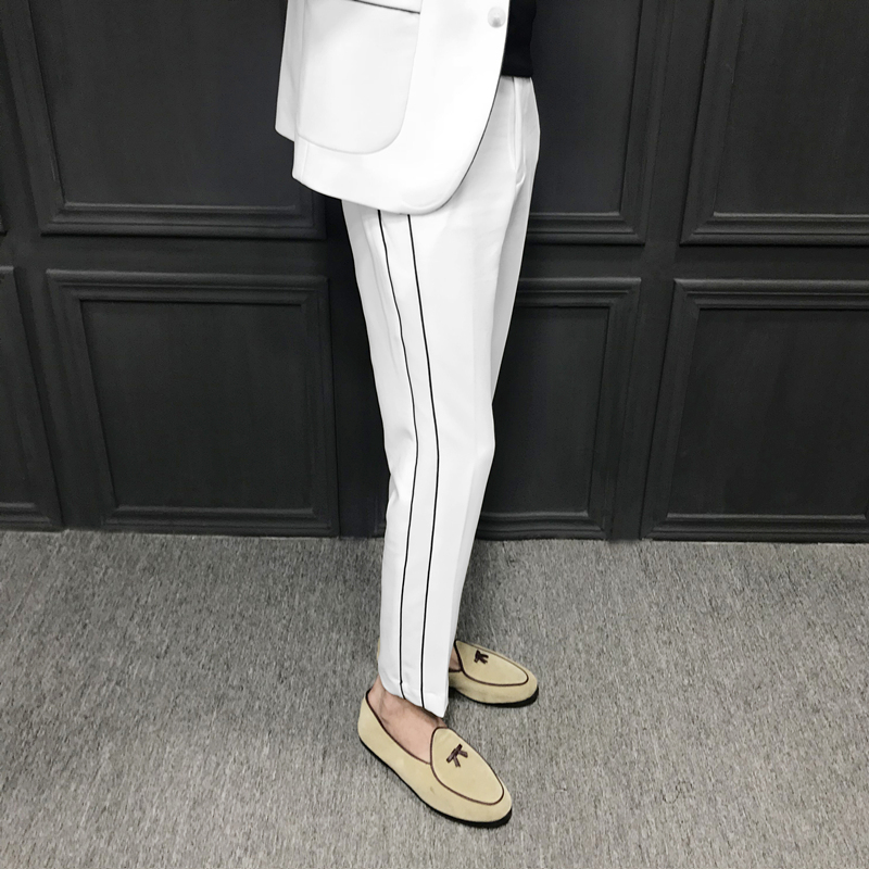 2019 Spring Quality Pants Men Brand New Perfume Masculino Casual Joggers Simple Trousers Men Dress Pants Mens Trousers Formal