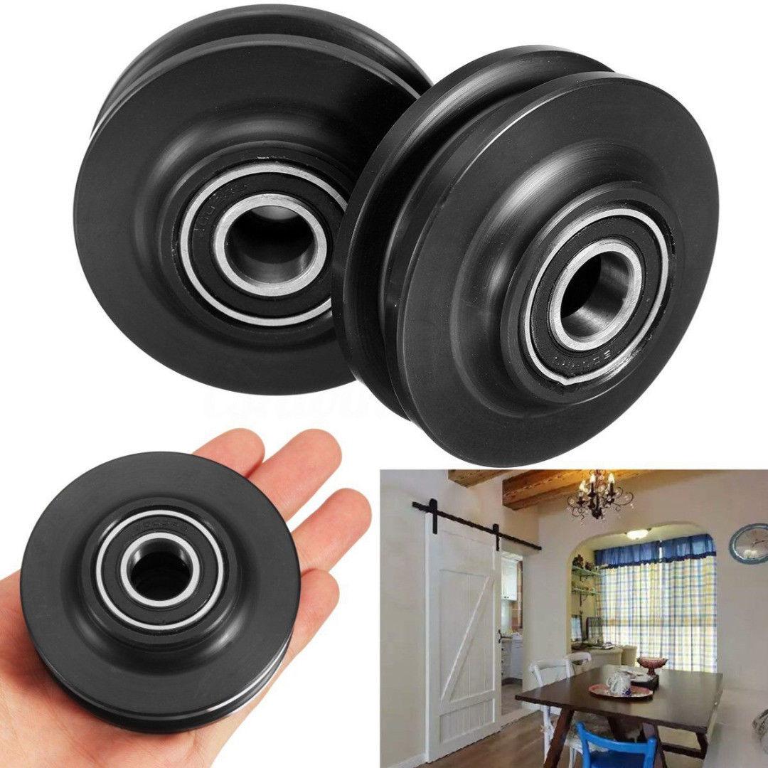 2PCS/lot Bathroom Double Bearing Barn Door Pulley American Sliding Door Pulley Cabinet Window Pulley Door Runner Sliding Shower