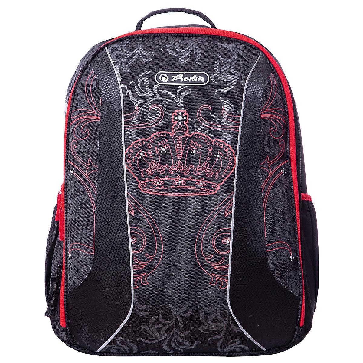 School Bags HERLITZ 7936523 Schoolbag Backpack Orthopedic Bag For Boy And Girl Animals Flowers