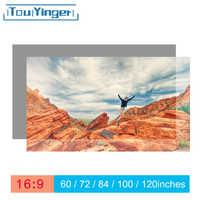Touyinger 16:9 écran de projecteur réfléchissant haute luminosité 60 72 84 100 120 130 pouces écran en tissu pour Espon BenQ XGIMI
