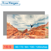 Touyinger 16:9 عالية السطوع عاكس شاشة العرض 60 72 84 100 120 130 بوصة قماش نسيج الشاشة ل Espon BenQ XGIMI