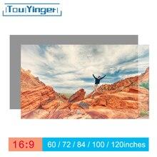Touyinger 16:9 yüksek parlaklık yansıtıcı projeksiyon perdesi 60 72 84 100 120 130 inç kumaş kumaş ekran epson BenQ XGIMI