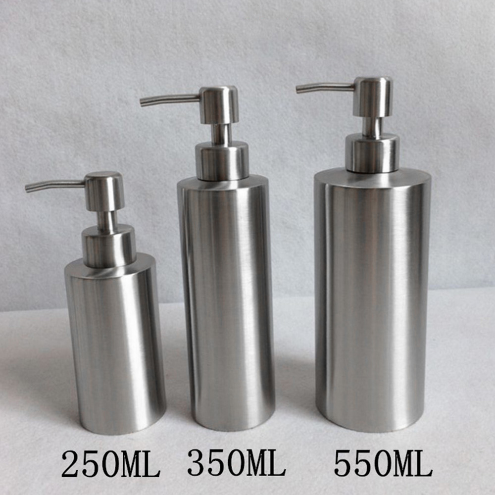 High Quality Stainless Steel Soap Dispenser Hand Sanitizer In Emulsion Bottle Bathroom Fixture Bathroom Hardware
