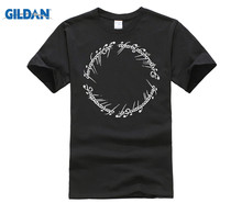 GILDAN Lord of The Rings Elvish Movie T-Shirt  Summer MenS Brand O-Neck Fashion Cotton T Round Neck Clothes