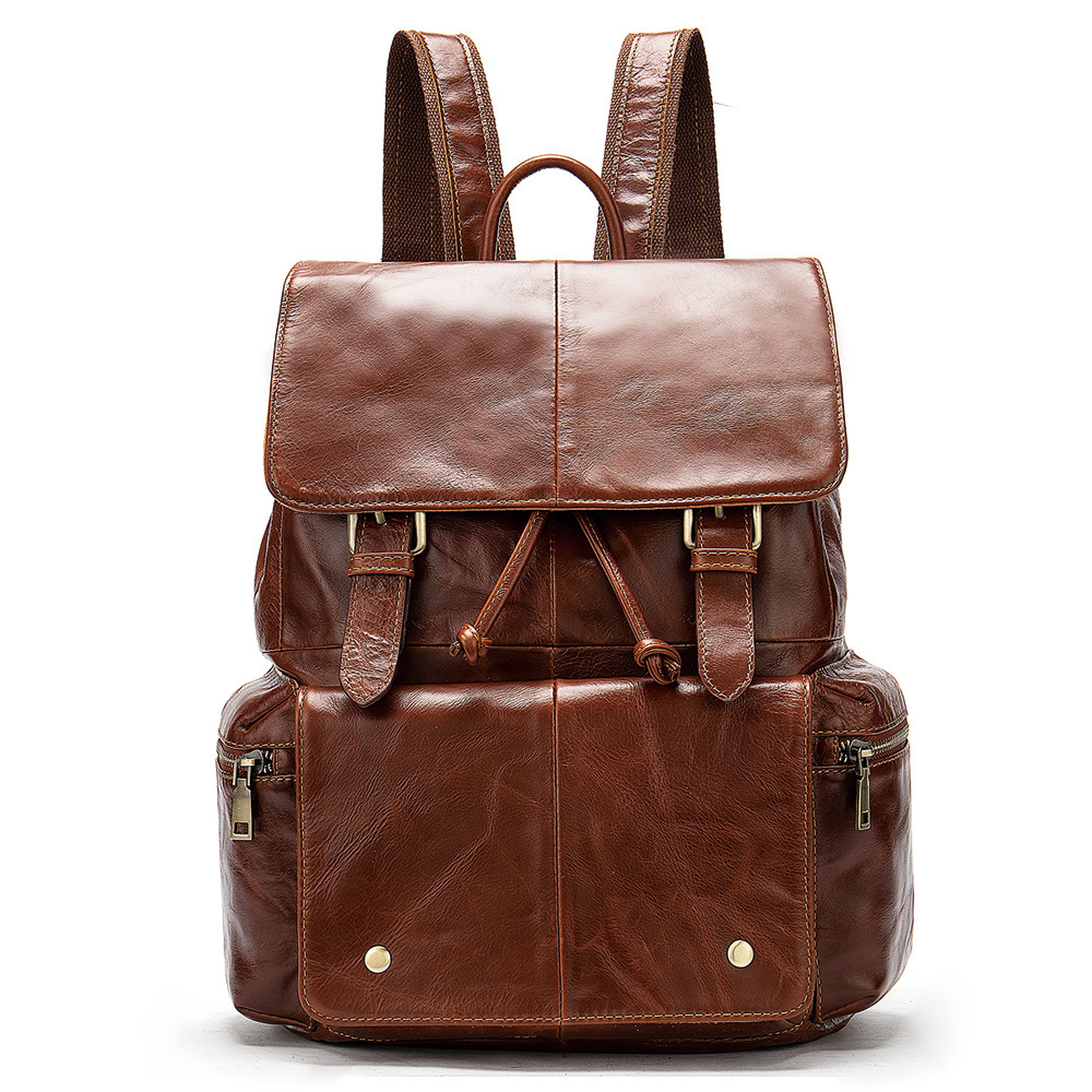 Brand Genuine Cow Leather Mens Travel Backpack Fashion Square Design Mens Laptop Bag Casual Mens School BackpackBrand Genuine Cow Leather Mens Travel Backpack Fashion Square Design Mens Laptop Bag Casual Mens School Backpack