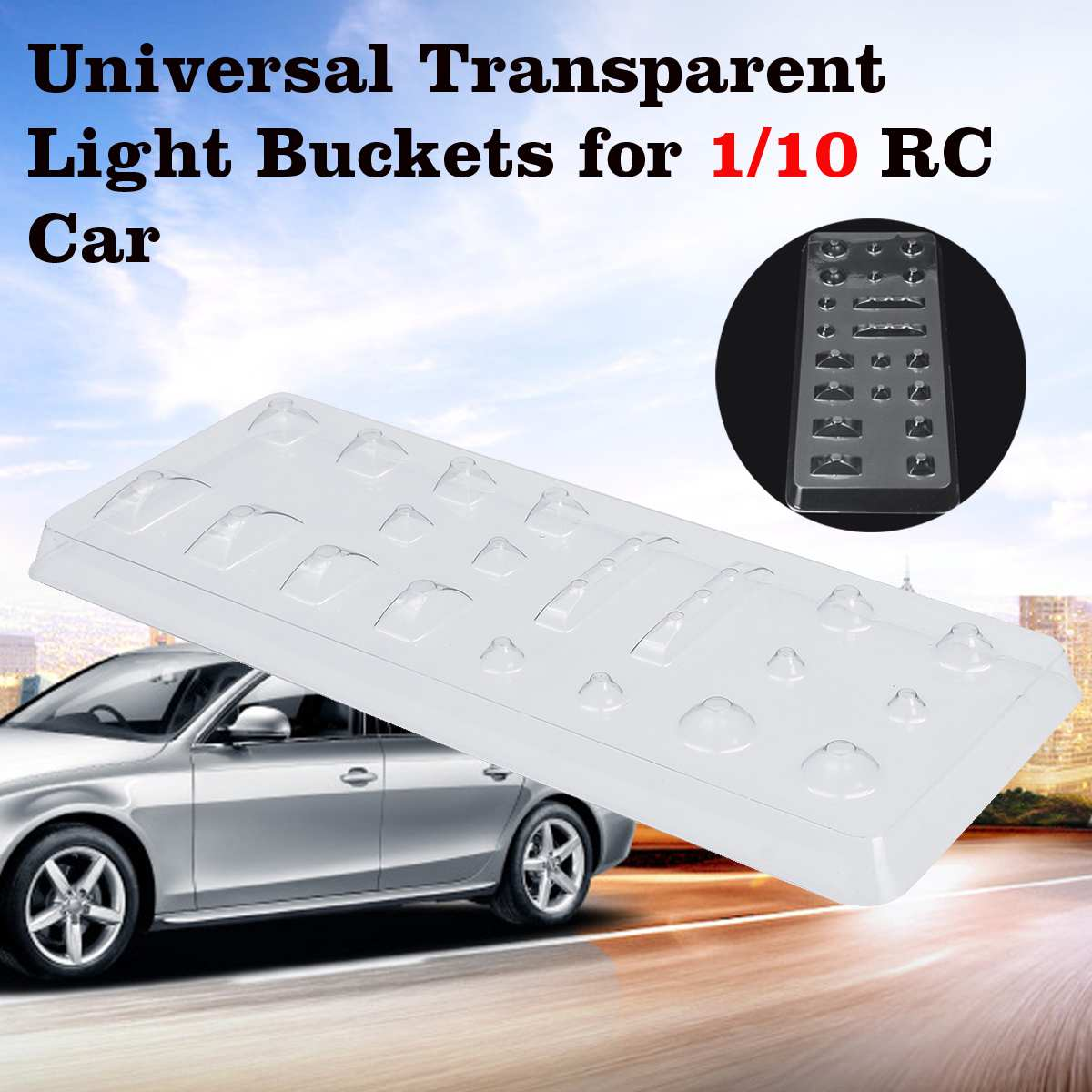 <font><b>RC</b></font> <font><b>Body</b></font> Universal Transparent Light Buckets for <font><b>1</b></font>/<font><b>10</b></font> On Road HPI <font><b>Tamiya</b></font> Drift <font><b>RC</b></font> Car Parts image