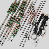 20mm JHY Linear guide rail carriages profiles , DFU2005 Ball screws with DOUBLE BALLNUT and related elements for CNC machine
