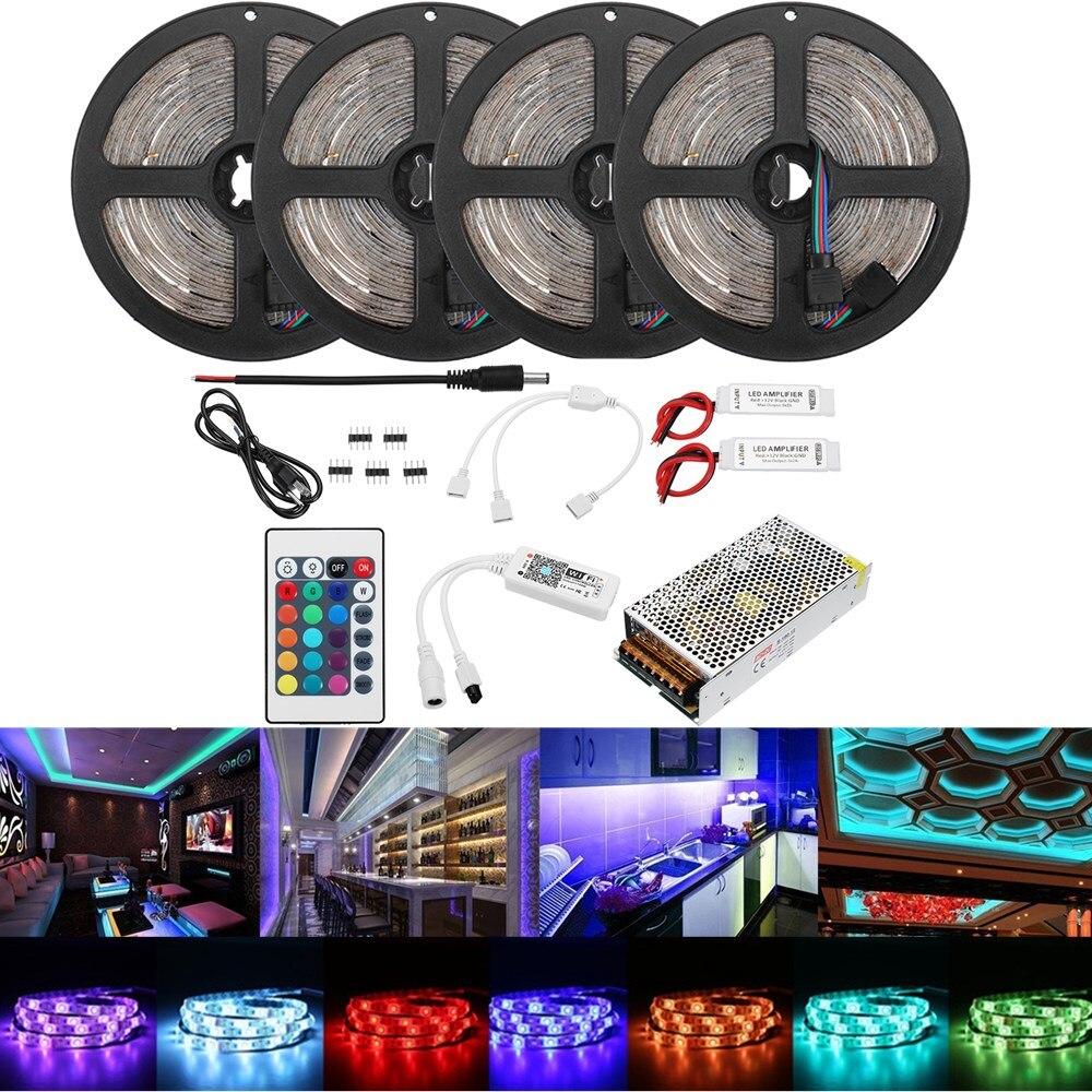 Ac110-240v 20 M 2835 Rgb Flexible Wasserdichte Led Streifen Licht Kit Alexa Smart Home Wifi Steuer App Drahtlose Steuerung Tv Licht Hohe QualitäT Und Geringer Aufwand