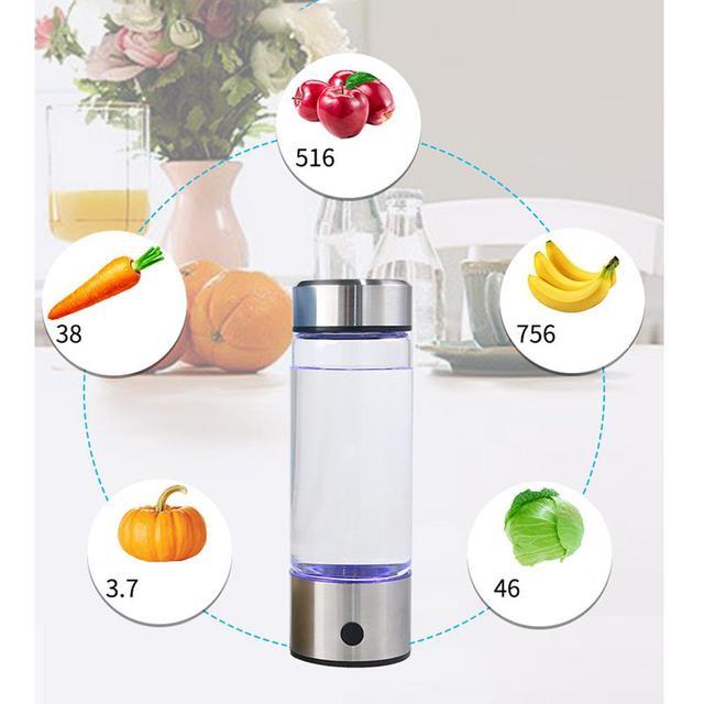 Adoolla 420ML Portable Electrolysis Hydrogen Generator Water Filter Bottle Glass 4