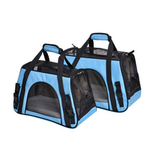 Dog Carrier Travel Bag Portable Pet Backpack Messenger Cat Outgoing Small Soft Sided Breathable For