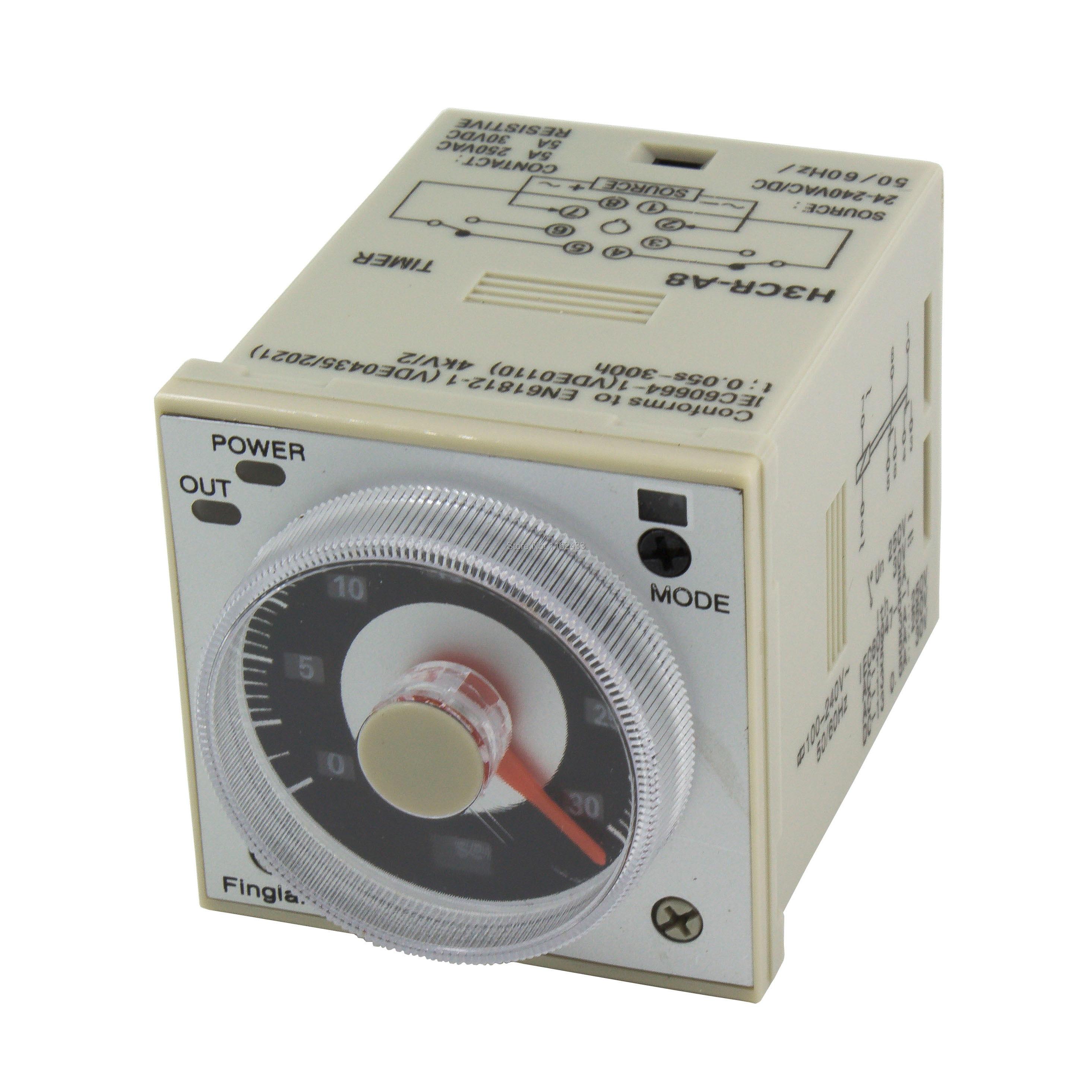 H3CR-A8 8 Pin Time Relay H3CR Series Delay Timer AC/DC 24-240V AC 100-240V