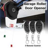 110V 600N Auto Garage Roller Door Opener Motor 3 Remote Controls Garage Door Roller Gate Hardware Tools