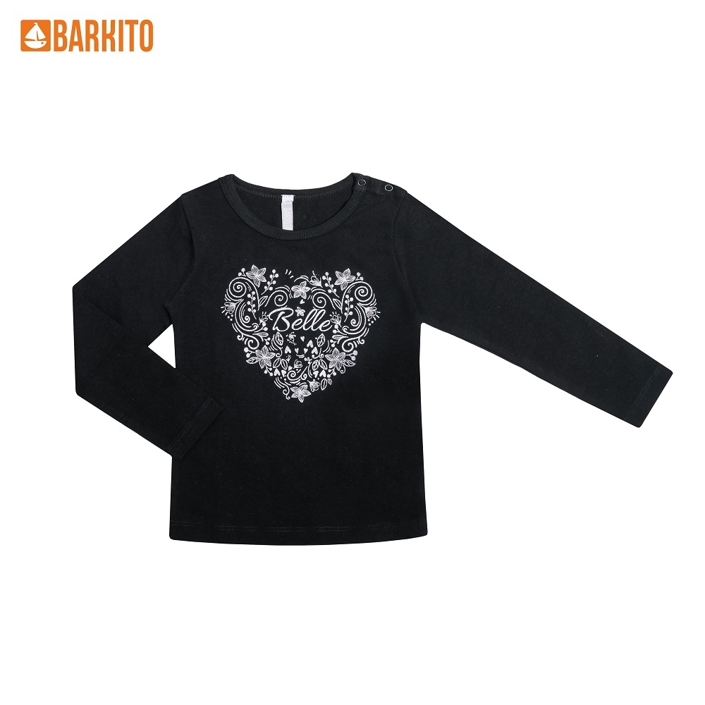 Фото - Sweaters Barkito 339031 children clothing Cotton 32A-30326KOR Black Girls Casual black lace up details bodycon crop sweaters
