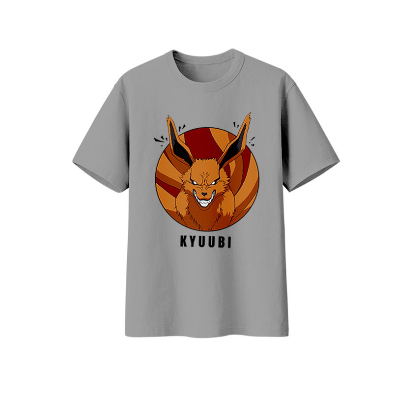 Milky Way Japanese Anime Naruto Tshirt Kyuubi Kurama Tshirt Man Tops Shorts Sleeves Tee