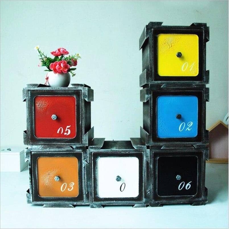 Nouvelles boîtes de rangement rétro en bois multi-fonction changement armoire pour la décoration de la maison combinaison tiroir rangement maquillage organisateur
