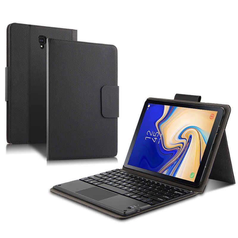 "Case For Samsung Galaxy Tab S4 10.5 SM-T830 T835 T837 Bluetooth keyboard Protective Cover PU Leather Tab S4 10.5"" Tablet PC Case"