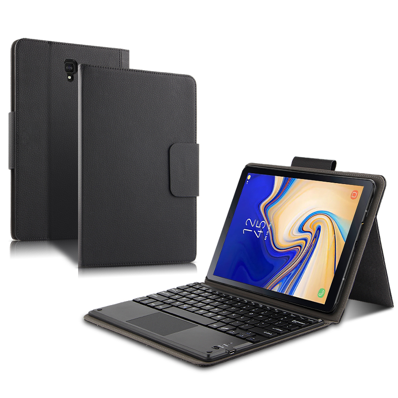 Funda para Samsung Galaxy Tab S4 10,5 SM-T830 T835 T837 teclado Bluetooth funda protectora de cuero PU Tab S4 10,5