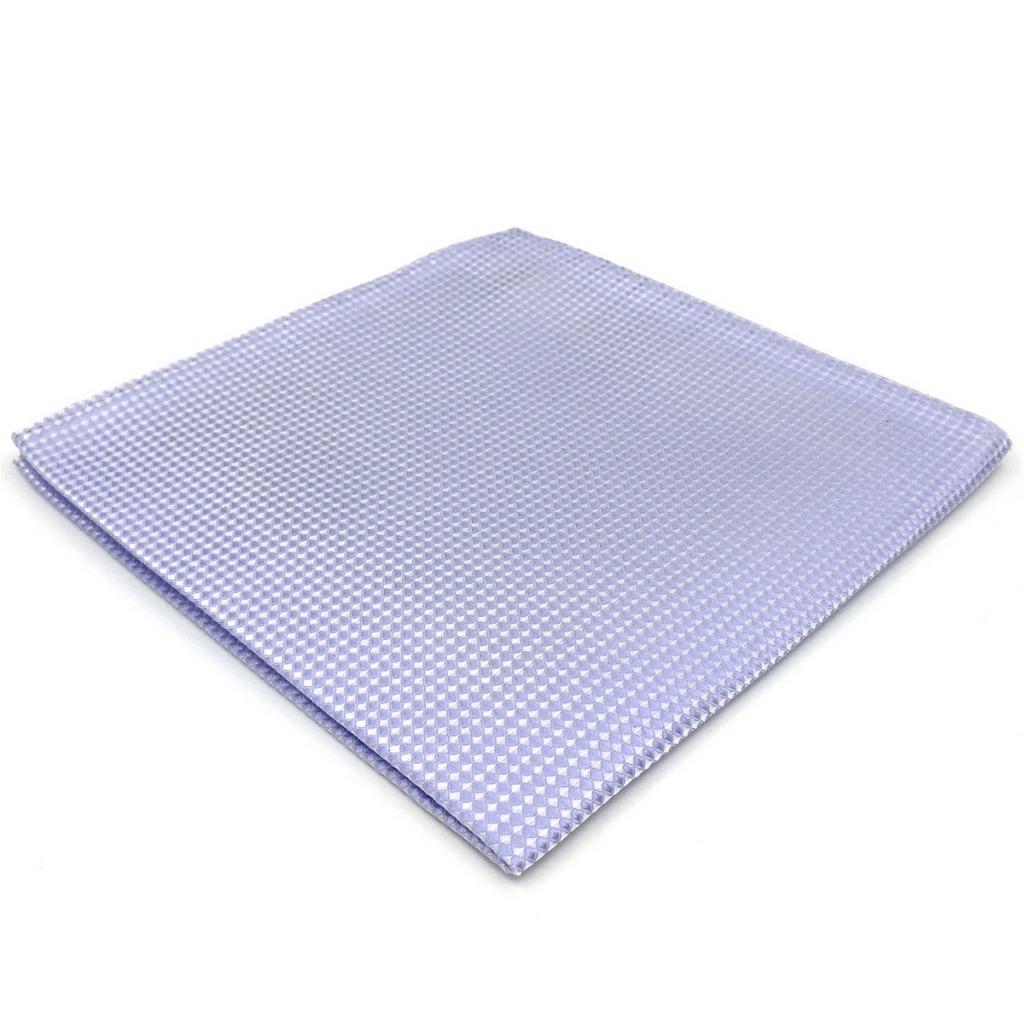 EH25 Solid Color Lavender Pocket Square For Men Wedding Novelty Dress Hanky 12.6