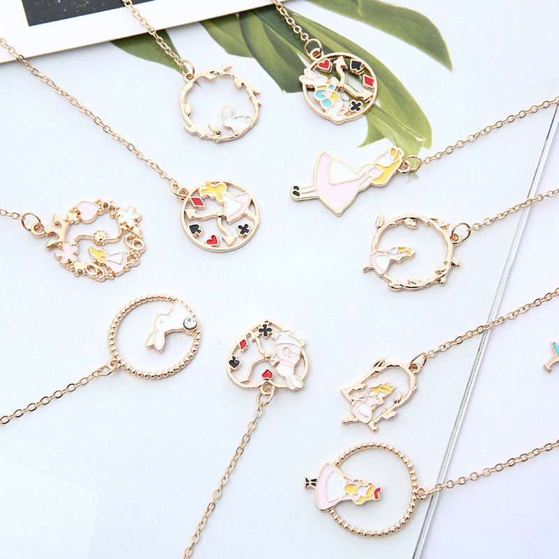 1PC Cute Rabbit Bookmarks Kawaii Pendant Book Markers Metal Bookmarks For Books School Office Supplies Creative Gifts Stationery