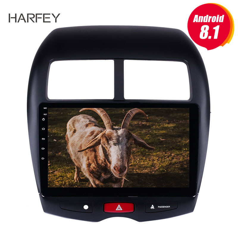 Harfey For 2010 2011 2015 Mitsubishi ASX Peugeot 4008 Car Multimedia player 2DIN Android 8 1