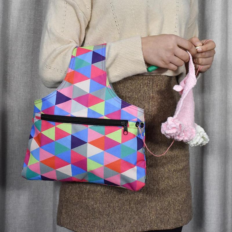 Portable Knitting Needle Storage Bag Oxford Cloth Waterproof Yarn Crochet Knit Bag DIY Craft Organizer For Thread StoragePortable Knitting Needle Storage Bag Oxford Cloth Waterproof Yarn Crochet Knit Bag DIY Craft Organizer For Thread Storage