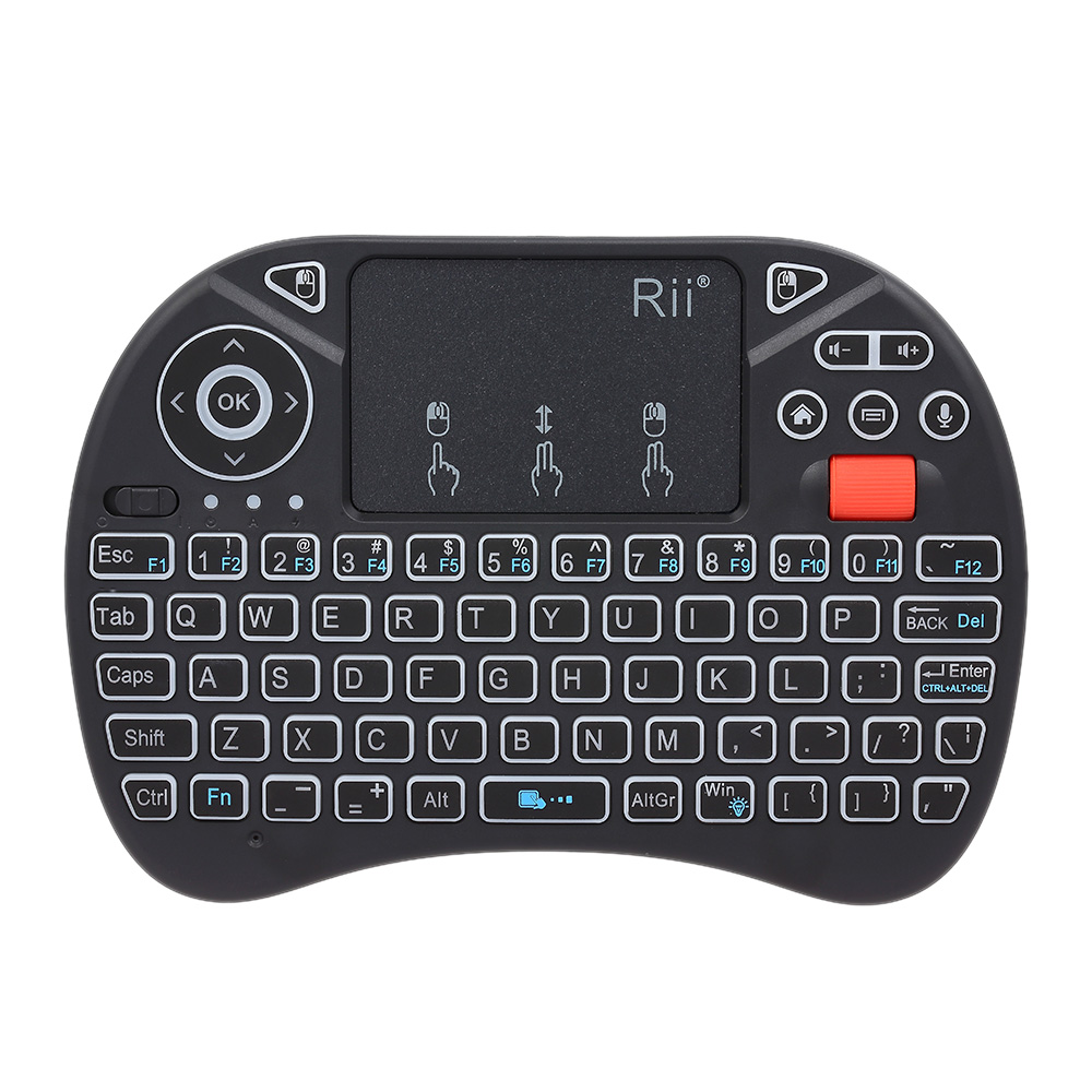 Apprehensive Rii I8x Plus 2.4ghz Backlit Wireless Keyboard Touchpad Mouse Voice Input Handheld Remote Control For Android Tv Box Smart Tv Pc