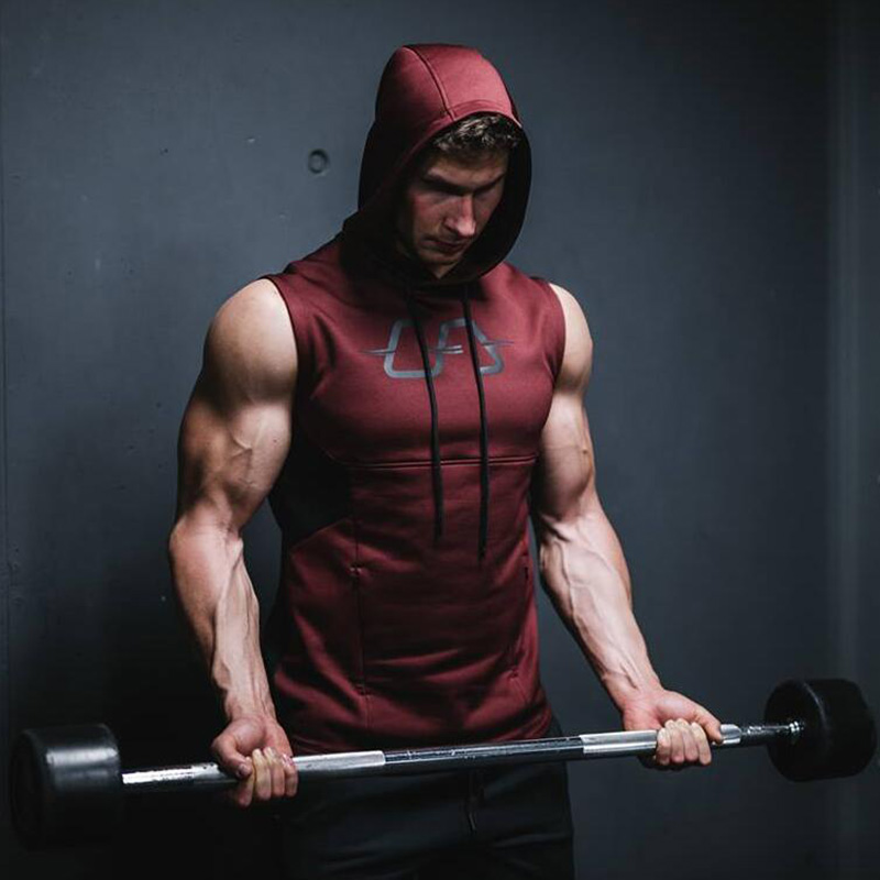Gyms Aesthetics Brand Stretchy Sleeveless Men   Tank     Top   Shirt Casual Fashion Hooded   Tank     Top   Men bodybuilding Fitness Clothing