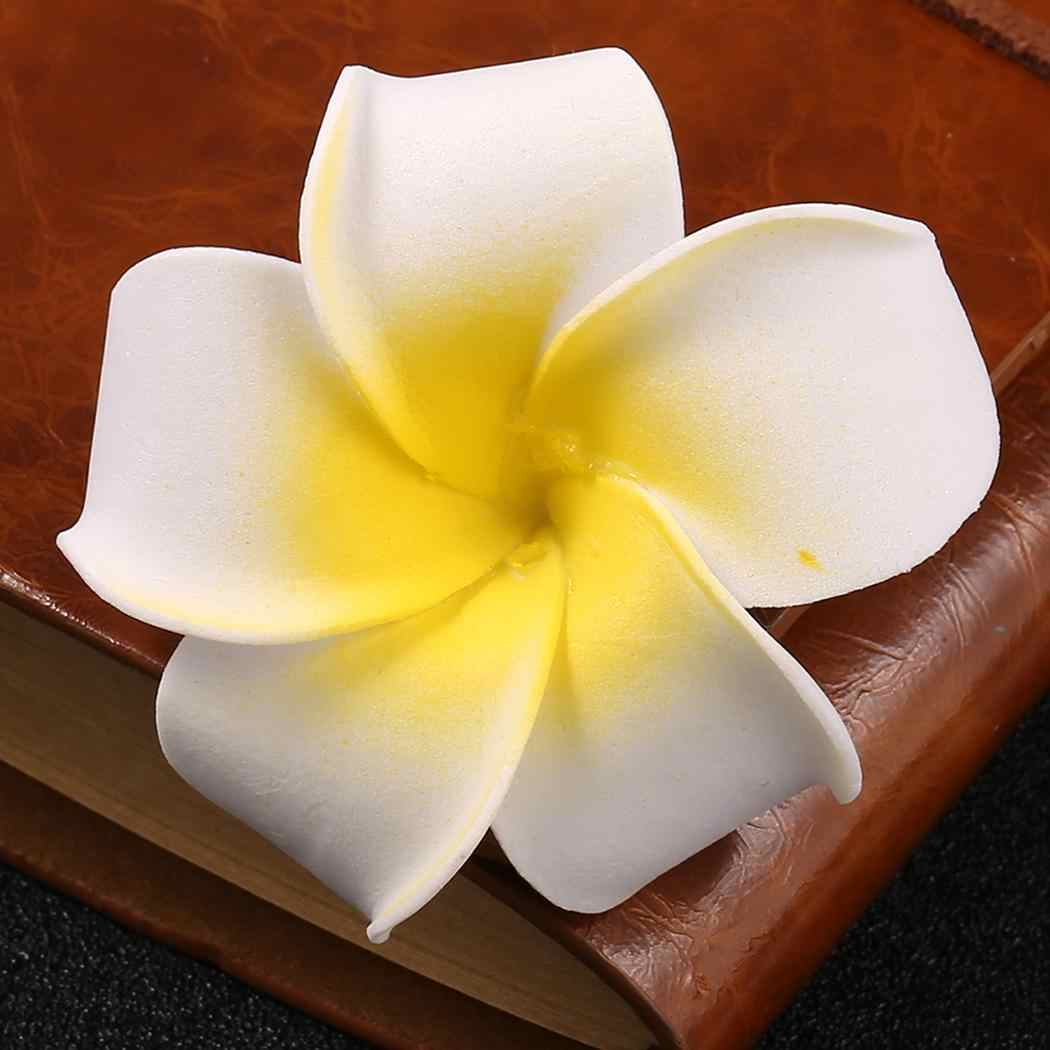 Hairpin Street Women Wedding Outdoor Beach Casual Girls Club Hair Party Flower Clip Plumeria Hair Bridal Clamps Styling