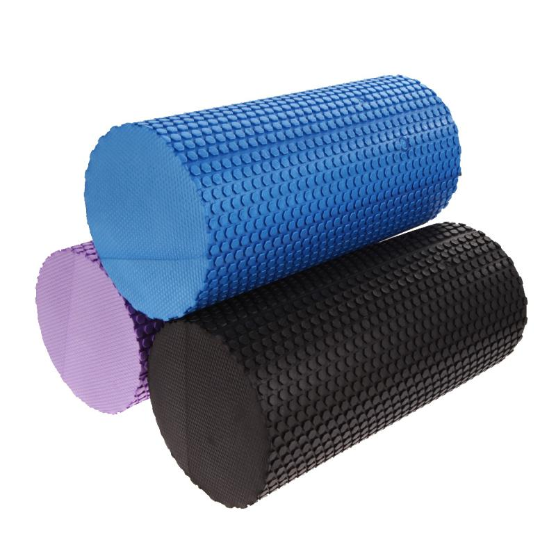 Yoga Foam Roller 30cm Gym Exercise Yoga Block Fitness EVA Floating Trigger Point For Exercise Physical Massage Therapy Z60 30cm 15cm electric vibration eva foam roller floating point fitness massage roller 3 speed adjustable for physical therapy
