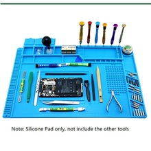 S-160 Silicone Repair Mat Magnetic Heat Insulation Working for Electrical Soldering Platform iPhone PC LG