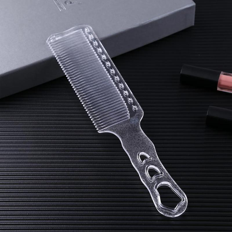 Transparent Anti-static Plastic Combs Flat Comb Men Women Hair Clipper Combs Hair Styling Tools