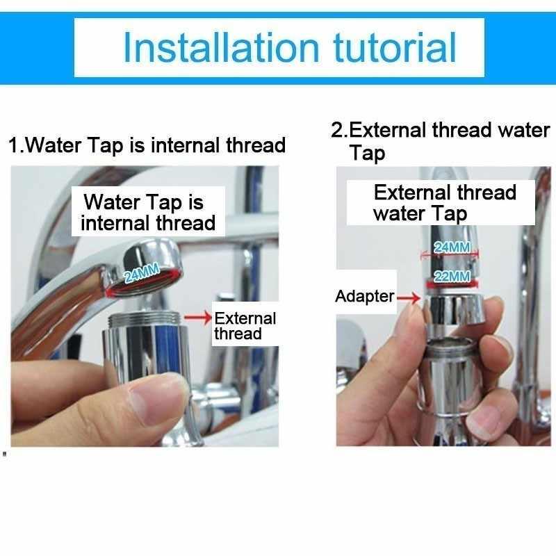 นวนิยายครัวอุปกรณ์เสริมอุณหภูมิ Shower Tap หัว 7 สีเปลี่ยน Led น้ำแตะห้องน้ำอุปกรณ์เสริม