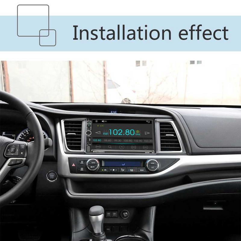 Android 7,1 7 дюймов 16 г памяти Сенсорный экран и пуговицы HD Автомобильный Bluetooth Mp5 плеер автомобиля 2 DIN универсальный gps навигации одна машина