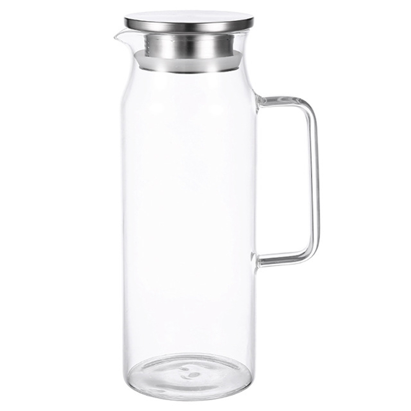 1.2Liter 51 Ounces Glass Pitcher With Lid Covered Gallon Iced Tea Pitcher Lidded Water Jug Hot Cold Water Ice Tea Wine Coffee 1.2Liter 51 Ounces Glass Pitcher With Lid Covered Gallon Iced Tea Pitcher Lidded Water Jug Hot Cold Water Ice Tea Wine Coffee