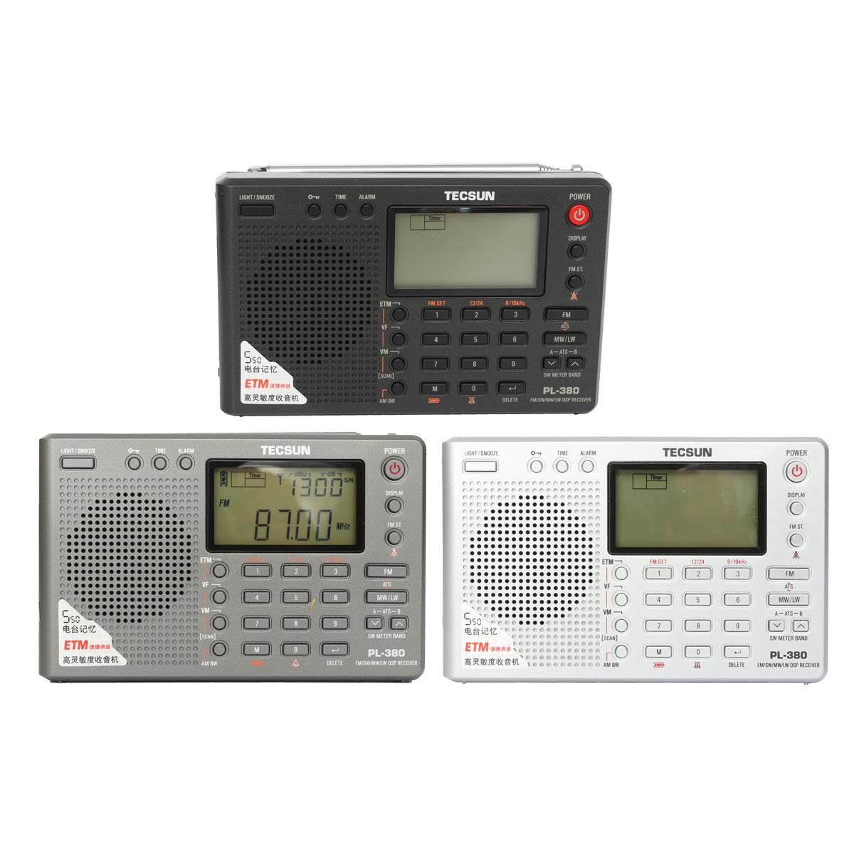 TECSUN PL 380 DSP PLL FM MW SW LW Digital Stereo Radio World Band Receiver New