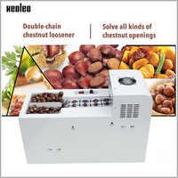Xeoleo Commercial Chestnut Cutter Electric Hazelnut slitting machine Double chain Chestnut incision machine 500W 130kg/h