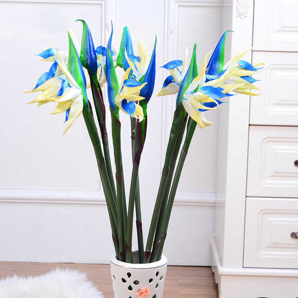 Artificial Flower Bird Of Paradise Fake Plant Silk Strelitzia Reginae Home Decor