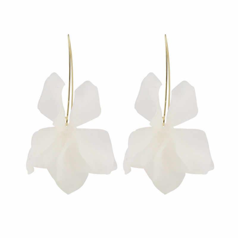 2019 New Design Za Flower Women Dangle Earrings Romantic Resin Women Drop Earrings For Birthday Jewelry Gift