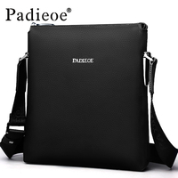 Padieoe Luxury Brand Fashion Men Shoulder Bag Leather Male Messenger Crossbody Style Casual traval Men Shoulder Bag