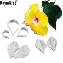 Цветок гибискуса Вайнер и резак силиконовые формы торт отделочных