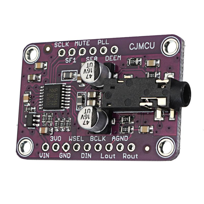 CLAITE 1pc 3.3V - 5V CJMCU-1334 UDA1334A I2S DAC Audio Stereo Decoder Module Board For Arduino UDA1334A I2S