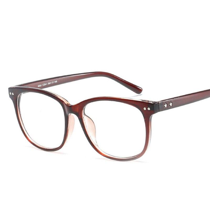 eae1fd4895 SHAUNA bisagra de resorte único anillo de marco de gafas Mujer Transparente  gafas de ojo de