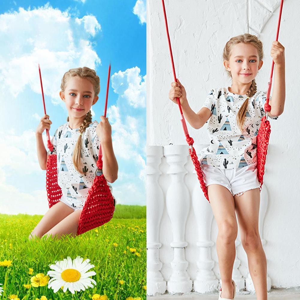 Balançoires pour enfants jouets pour enfants sens intérieur balançoires filets balançoire siège bébé corde Net suspendu chaise balançoire