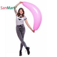 Figure Balloon 44 110cm Arch Banana Shape Latex Pink Blue Color Fruit Summer Party Decorations