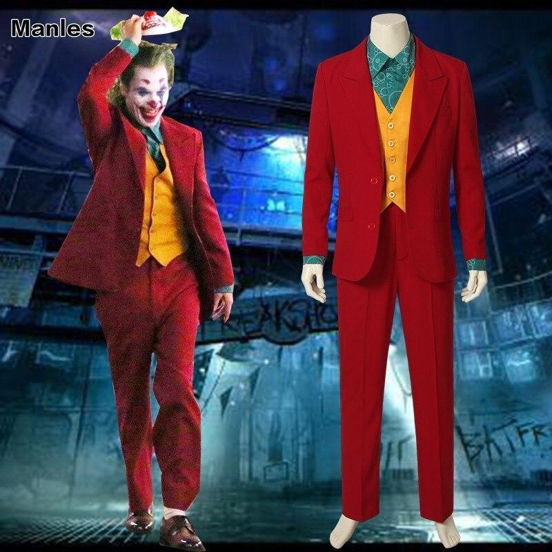 Us 47 12 20 Off Joker Origin Movie Cosplay Arthur Fleck Joker Costume Film Carnival Adult Halloween Custom Made Christmas Only Coat Vest Shirt In
