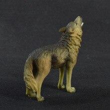 WHISM Elegant Home Decor Wolf Figurine PVC Solid Home Decora