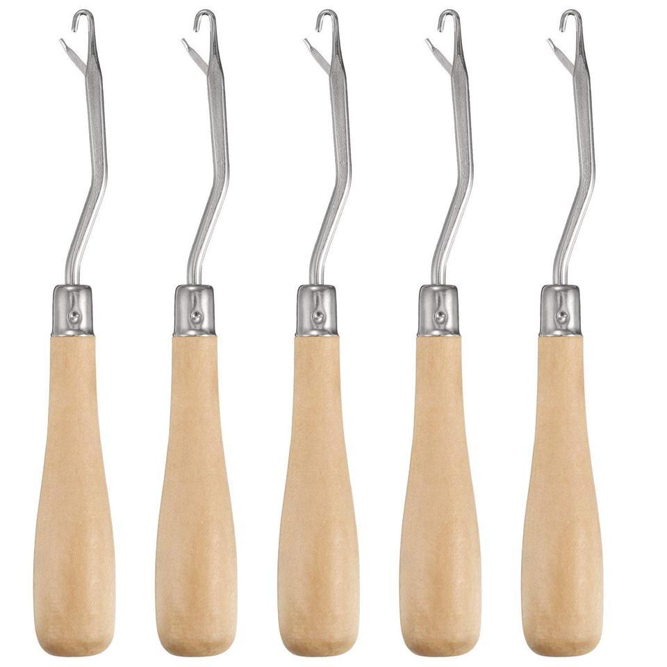 6.5 Wooden Handle Beige Darice 39022 Latch Hook Tool: Bent
