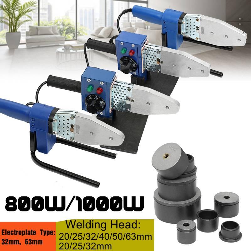 800W/1000W Plastic Tube Pipe Welder Temperature Adjustable PPR PE PP Pipe Welding Machine Heating Tool DN20-63mm DN20-63mm