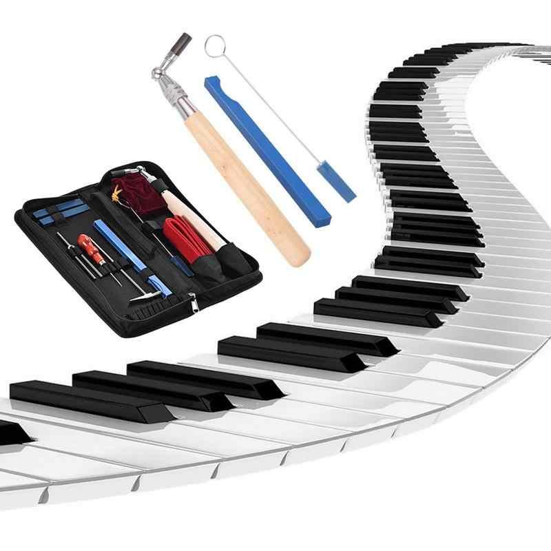 פסנתר כוונון כלי ערכת מקלט כלים 8 PCS מקצועי תיקון פסנתר אבזר קונצרט ביצועים כלי עבור פסנתר